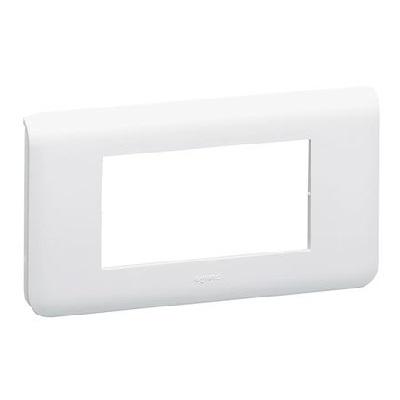 LEGRAND - Plaque Programme Mosaic - 4 modules - horizontal - blanc -REF 078814