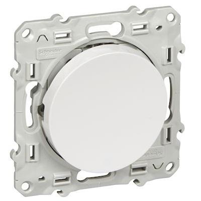 SCHNEIDER ELECTRIC - Odace Bouton poussoir Blanc 10 A à vis - REF S520206