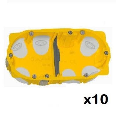 LOT - LEGRAND - 10 Boîtes Encastrements multipostes Ecobatibox prof. 40 mm 2 postes – 4/5 modules ref 080022
