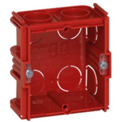 LEGRAND - Boîte monoposte Batibox - maçonnerie - carrée associable - prof. 30 -Réf - 080131