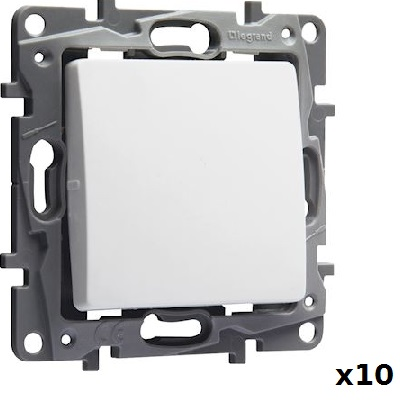 LOT - LEGRAND - 10 Interrupteurs ou va-et-vient Niloé - 10 AX – 250 V~ ref 664701