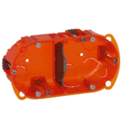 LEGRAND - Boîte multimatériaux Batibox - 2 postes - 4/5 mod - vert/horiz - prof. 40 -  REF 080102