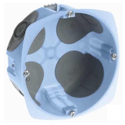 EUR\'OHM - Boîte d\'encastrement étanche à l\'air - vis - 1 poste - profondeur 40mm - ø 85mm - REF 52070