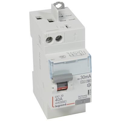 LEGRAND Interrupteur différentiel DX³-ID - 2P 230V~ 40A typeF 30mA - 2 modules Réf 411644