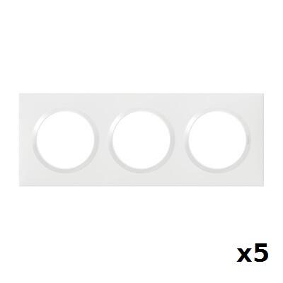LEGRAND - LOT Dooxie 5 Plaques triples blanches - Réf - 600803
