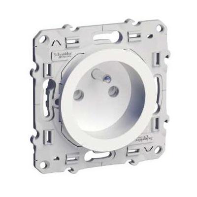 SCHNEIDER ELECTRIC  Prise de courant Odace - 2 P+T 16A - Spéciale Rénovation - Réf - S520049