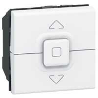LEGRAND - Interrupteur pour volets roulants Prog Mosaic - 2 mod - blanc - REF 077026