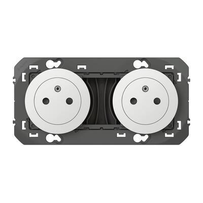 LEGRAND - Double prise de courant 2P+T Surface dooxie 16A précâblées finition blanc - REF 600332