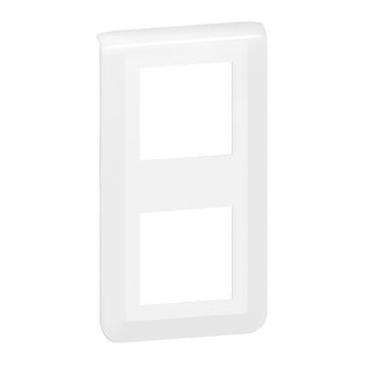 LEGRAND - Plaque de finition verticale Mosaic pour 2x2 modules blanc - REF 078822L