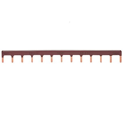 HAGER - Barre pontage 1P lang. 10mm marron 13M - Ref KB163P