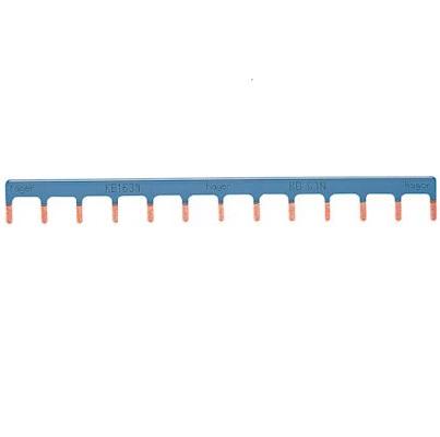 HAGER - Peigne d\'alimentation 1P 63A languette 10mm² bleu 13M - Ref KB163N