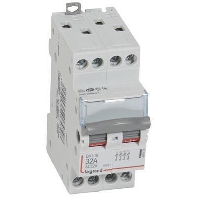 LEGRAND - Interrupteur-sectionneur de tête DX-IS - vis/vis - 4P-400 V~ - 32 A - 2 M - REF 406479