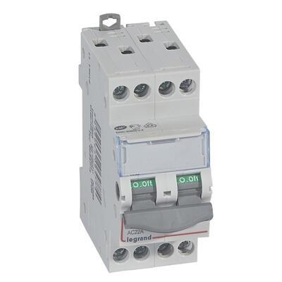 LEGRAND - Interrupteur-sectionneur de tête DX-IS - vis/vis - 4P - 400 V~ - 20 A - 2 M - REF 406477