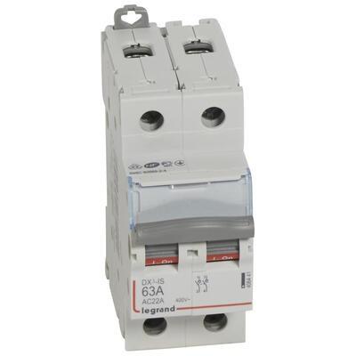 LEGRAND - Interrupteur-sectionneur de tête DX-IS - vis/vis - 2P - 400 V~ - 63 A - 2 M -  REF 406441