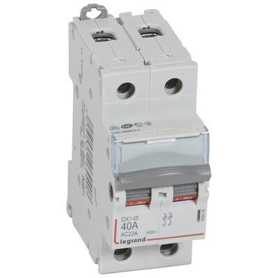 LEGRAND - Interrupteur-sectionneur de tête DX-IS - 2P - 400 V~ - 40 A - 2 M - REF 406440