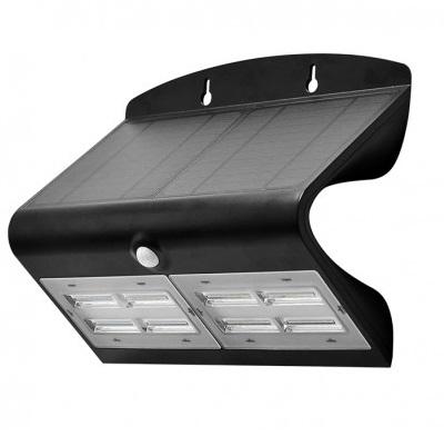 MIIDEX - Applique murale LED avec détecteur - 6.8W 4000K Noir - Réf - 70477