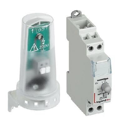 LEGRAND - Interrupteur crépusculaire modulaire standard - sortie 16A 250V~ livré avec cellule photoélectrique - 1 module - Réf - 412623