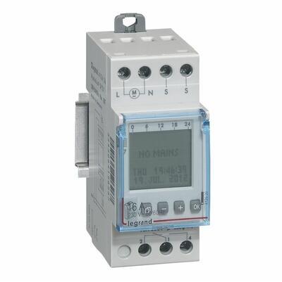 LEGRAND - Interrupteur crépusculaire modulaire programmable - livré avec cellule photoélectrique - REF 412626