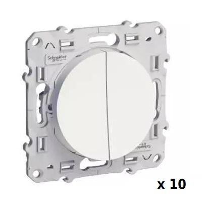 LOT - SCHNEIDER ELECTRIC - Odace 10 doubles Va-et-Vient connexion à vis - REF S520214