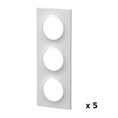 SCHNEIDER ELECTRIC - Odace Style 5 plaques 3 postes horizontaux ou verticaux entraxe 71mm - REF S520706