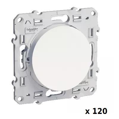 LOT - SCHNEIDER ELECTRIC - 120 Va-et-Vient Odace - Blanc - 10 A - à vis ref S520204