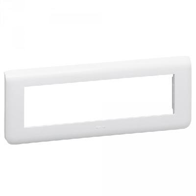 LEGRAND - Plaque de finition horizontale Mosaic pour 8 modules blanc - REF 078818
