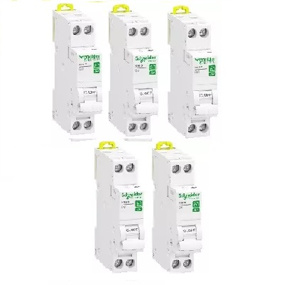 LOT - SCHNEIDER ELECTRIC - 5 Disjoncteurs Rési9 XP - 1Ph+N - 2A - C - REF R9PFC602