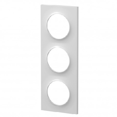 SCHNEIDER ELECTRIC - Odace plaque Blanc 3 postes horizontaux ou verticaux entraxe 71mm - Réf - S520706