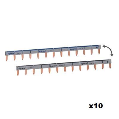 LEGRAND - LOT de 10 Peignes d\'alimentation universel Phase + Neutre 13 modules - ref 404926
