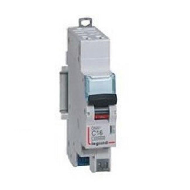 LEGRAND - Disjoncteur DNX³4500 6kA arrivée et sortie borne automatique - 1P+N 230V~ 16A courbe D - 1 module- REF 406808