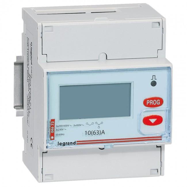 LEGRAND - Compteur d\'énergie triphasé EMDX - non MID - raccdt direct 63 A - 4 mod - REF 004673