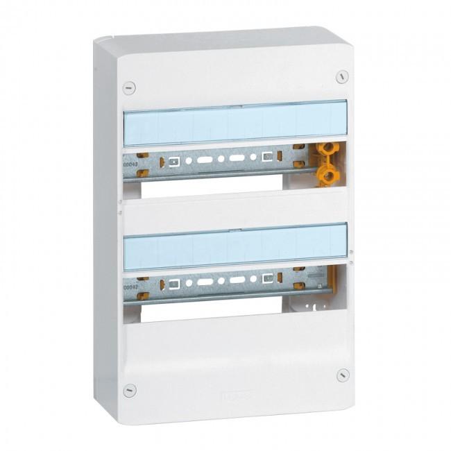 LEGRAND - Coffret Drivia 13 modules - 2 rangées - IP30 - IK05 - Blanc -  REF 401212