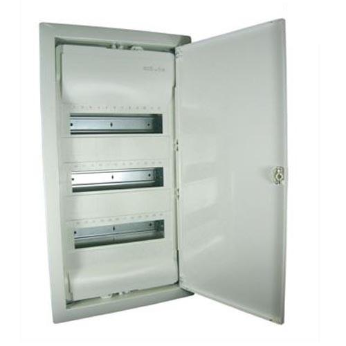 LEGRAND - Coffret encastré - porte isolante galbée - 3 rangées - 36+6 mod - blanc - REF 001513