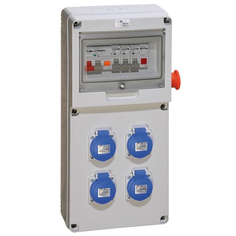 DIGITAL ELECTRIC - Coffret de chantier / distribution Equipé - 4 PC 2P+T 16A - REF 31132