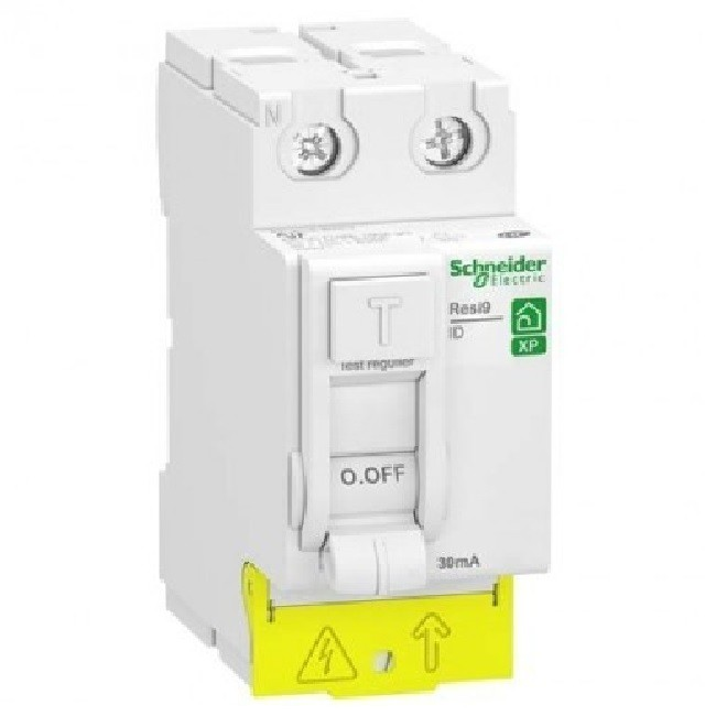 SCHNEIDER ELECTRIC - Rési9 XP Interrupteur différentiel type A 30mA - 2P - 63A - REF R9PRA263