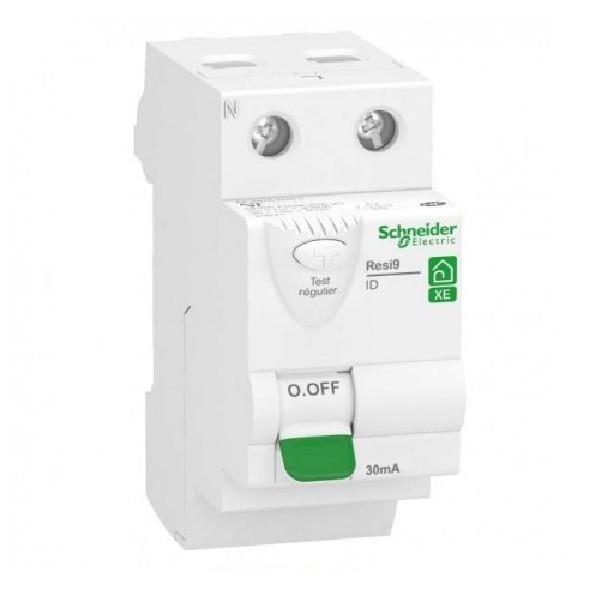 SCHNEIDER ELECTRIC - Resi9 XE, interrupteur différentiel - 2P - 40A - 30mA - type AC - Embrochable -  REF R9ERC240