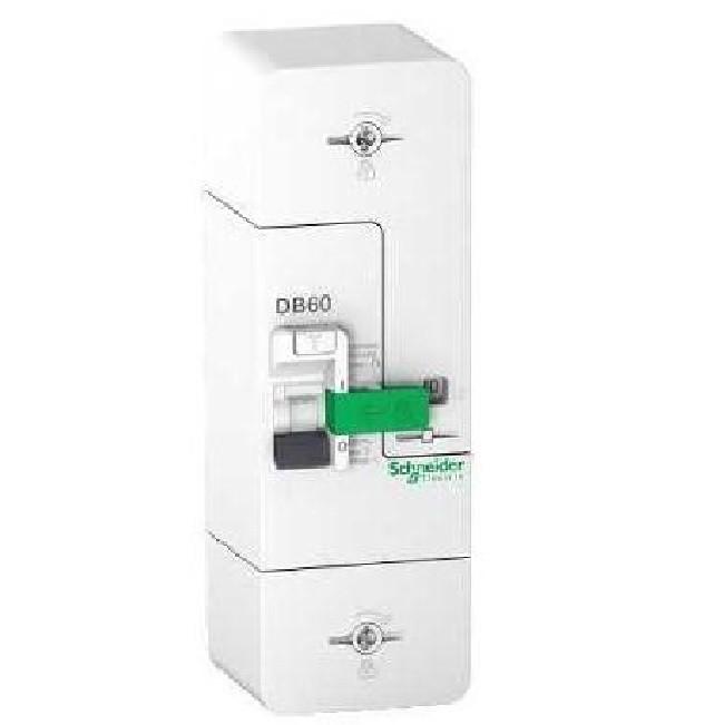 SCHNEIDER ELECTRIC - Resi9 DB60 - Disjoncteur Branchement - 1P+N - 15/30/45A 500mA - selectif- REF R9FS645