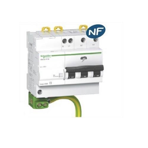 SCHNEIDER ELECTRIC - iQuick PF10 - parafoudre type 2 - 10KA - 3P+N 400V - livré avec cable de terre - REF A9L16618