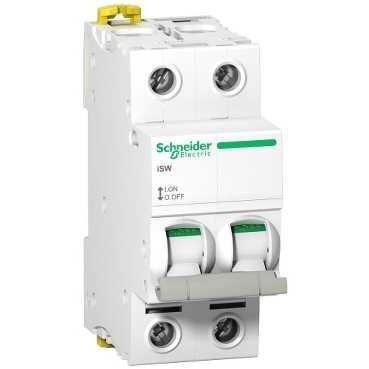 SCHNEIDER ELECTRIC - Acti9 iSW Interrupteur-Sectionneur 2P 63A 415VAC - Réf - A9S65263