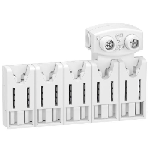 SCHNEIDER ELECTRIC - Rési9 XE répartiteurs 5 modules 10 pas de 9mm avec connecteur - REF R9EXHC05