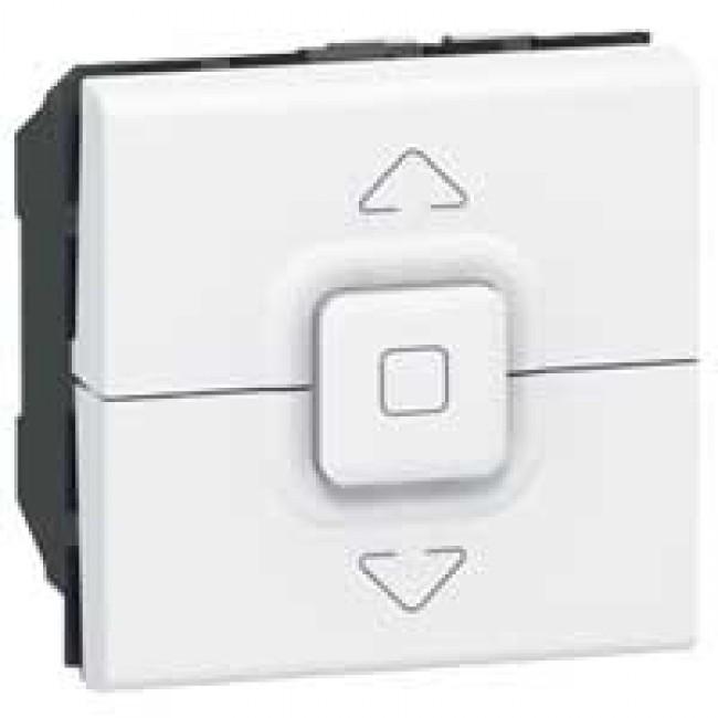 LEGRAND - Poussoir pour volets roulants Prog Mosaic - 2 mod - blanc - REF 077025