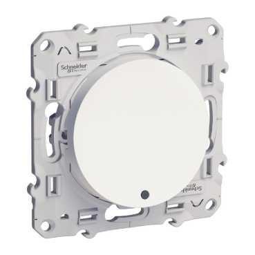 SCHNEIDER ELECTRIC - Odace poussoir lumineux Blanc 10 A à vis LED bleu 0,15 mA localisation - Réf S520276