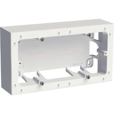 SCHNEIDER ELECTRIC - Odace Styl boîte montage en saillie Blanc 2 postes entraxe 71mm - REF S520764