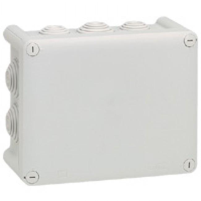LEGRAND - Boîte rect 180x140x86 étanche Plexo gris - embout (10) -IP55/IK07- 750C- REF 092052