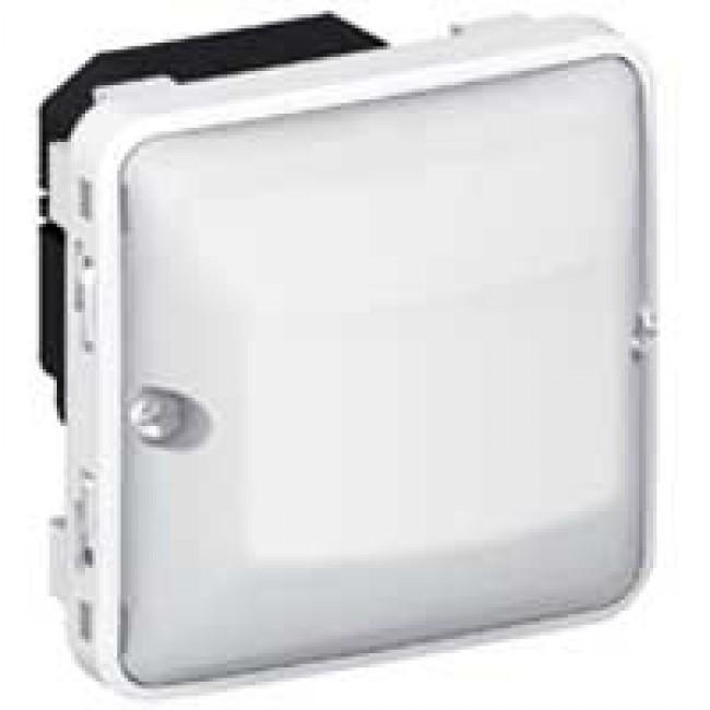 LEGRAND - Détecteur de mouvements toutes lampes sans neutre 2 fils 230V~ Plexo composable IP55 - gris et blanc - REF 069520