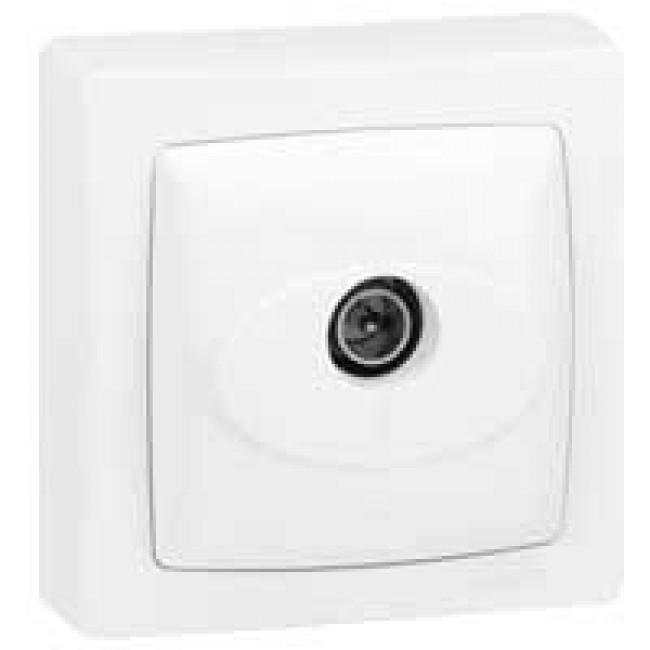 LEGRAND - Prise TV simple - mâle - appareillage saillie complet - blanc - REF 086040