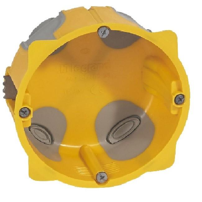 LEGRAND - Boîte monoposte Ecobatibox pour prise 20 et 32 A - Ø 85 mm - prof 40 mm - REF 080086