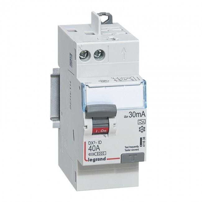 LEGRAND - Interrupteur différentiel DX-ID - vis/auto - 2P - 40A - type A - 30mA - REF 411638