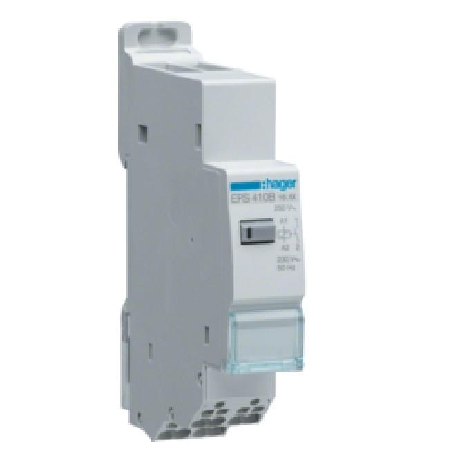 HAGER - Télérupteur silencieux 1F 230V SanVis - Ref - EPS410B