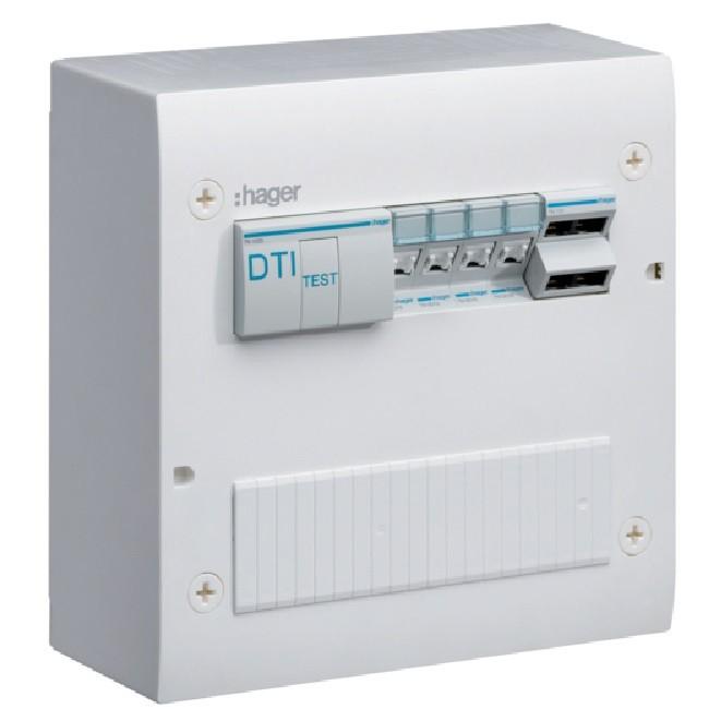 HAGER - Coffret VDI basique semi-équipé avec brassage 2 rangées et 20 modules - Ref TN402